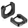 Square Hoop Earrings for Men Stainless Steel