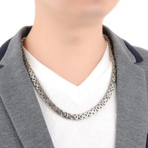 Byzantine Chain Necklace 22 inch 9mm for Men
