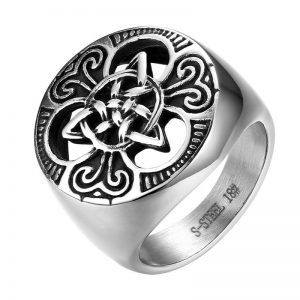 Celtic Knot Ring Stainless Steel Size 7-14 for Men