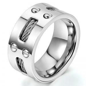 Stainless Steel Finger Wedding Ring 9mm Width for Men