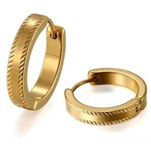 20mm Gold Hoop Earrings Stainless Steel Mens