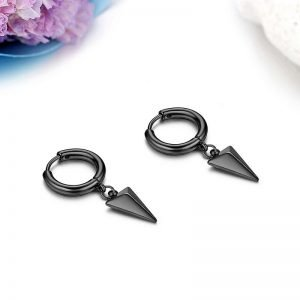Triangle Hoop Dangle Earrings for Men
