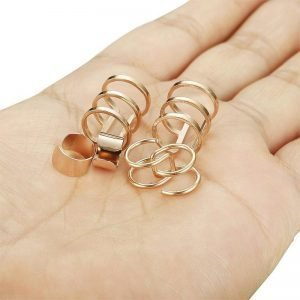 Wrap Earrings Without Piercing Pack Stainless Steel 2 Colors