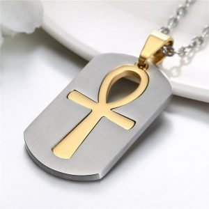 Ankh Cross Pendant Egyptian Necklace Chain