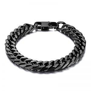 Wheat Chain Bracelet Stainless Steel 21cm 4 Colors Men