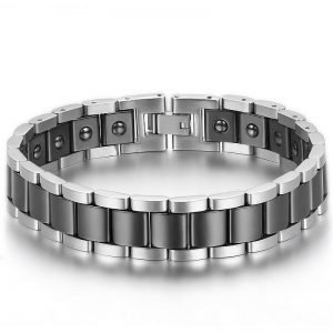 Ceramic Bracelet with Magnetic Stones Stainless Steel