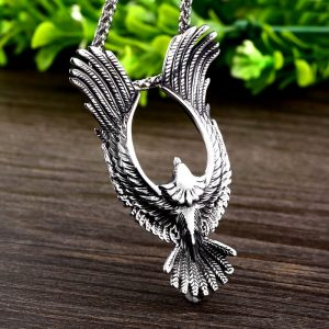 Flying Eagle Pendant Necklace Stainless Steel