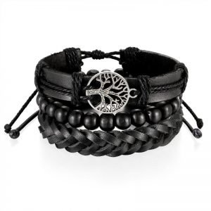 Tree of Life bracelet Wrap Braided Leather 4 Styles